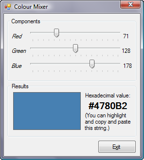 Colour Mixer | Visual Basic | Computing